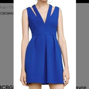 BCBG MAXAZRIA Blue cobalt dress size 0